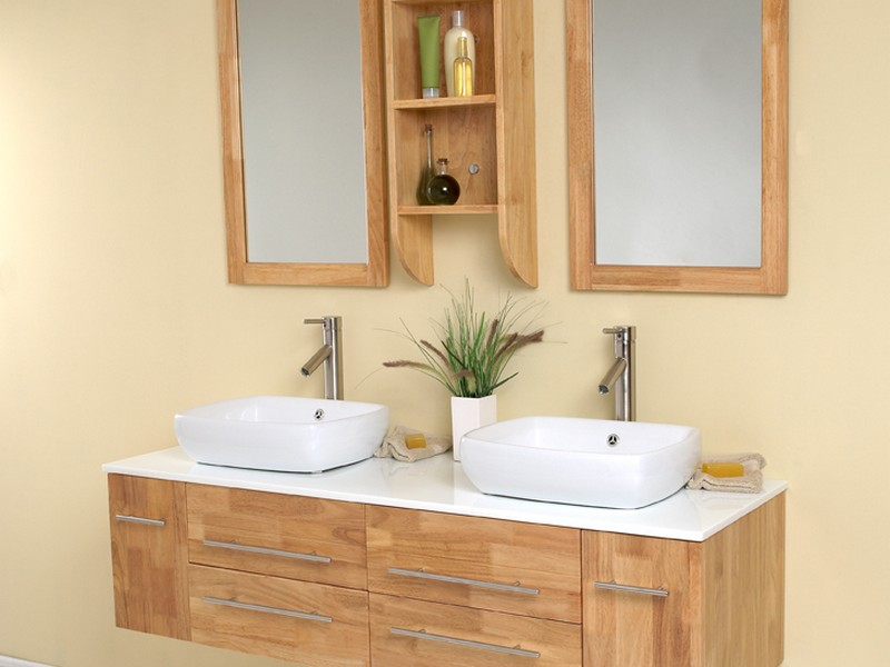 Natural Wood Bathroom Vanity
