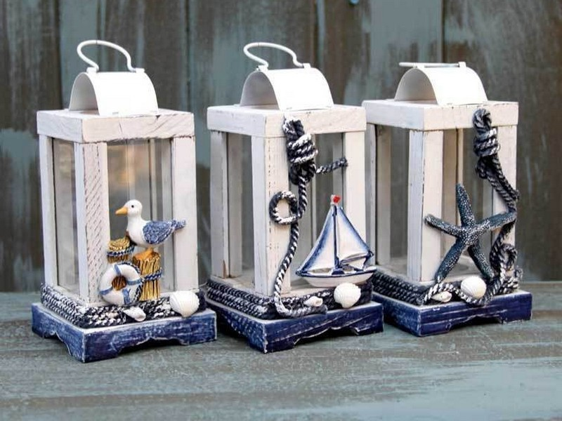 Nautical Lantern Candle Holders