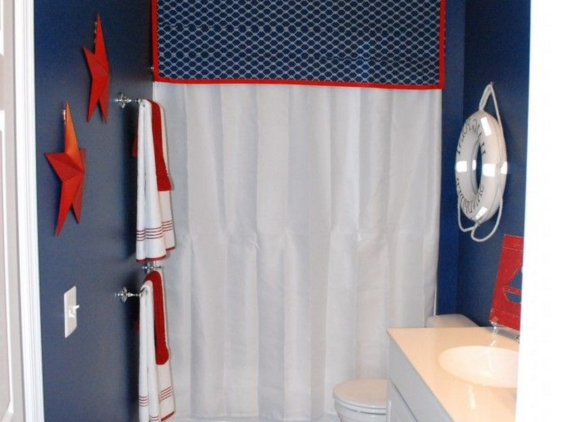 Nautical Themed Bathroom Wallpaper