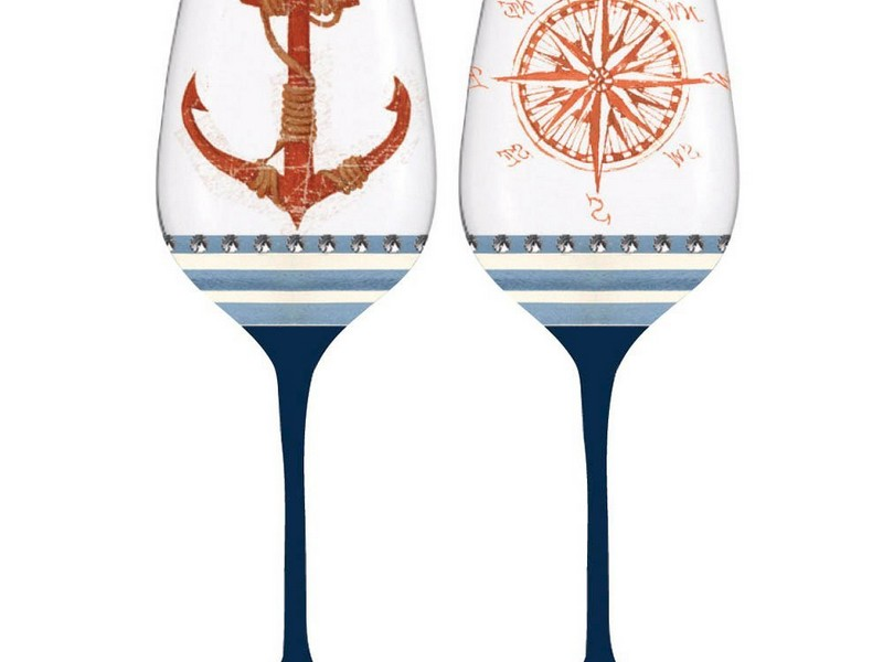 Nautical Themed Wine Glasses