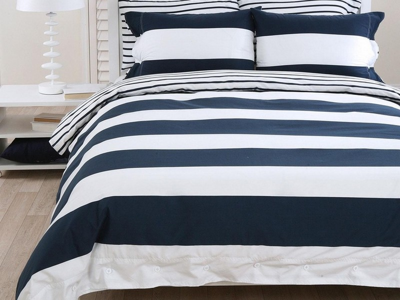 Navy And White Duvet Cover Full