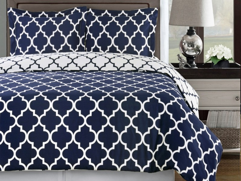 Navy And White Duvet Cover