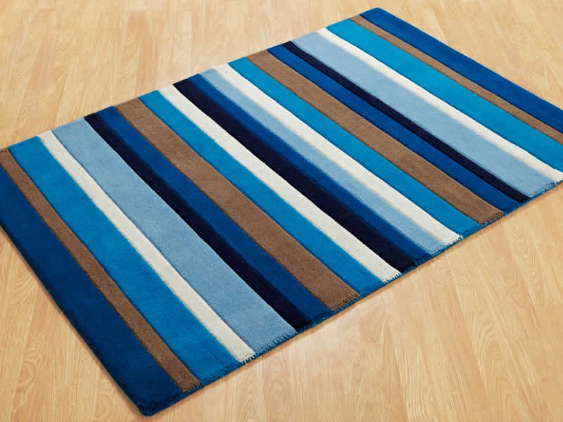 Navy And White Striped Rug Uk