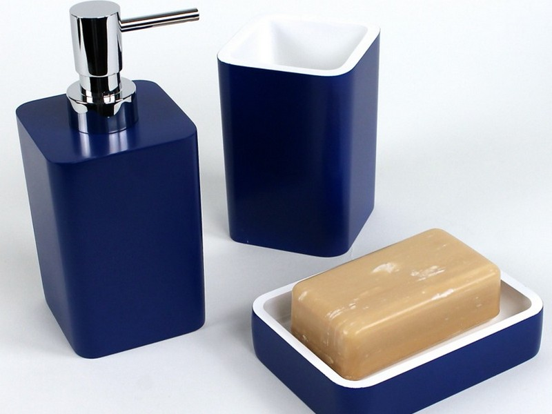 Navy Bathroom Accessory Sets