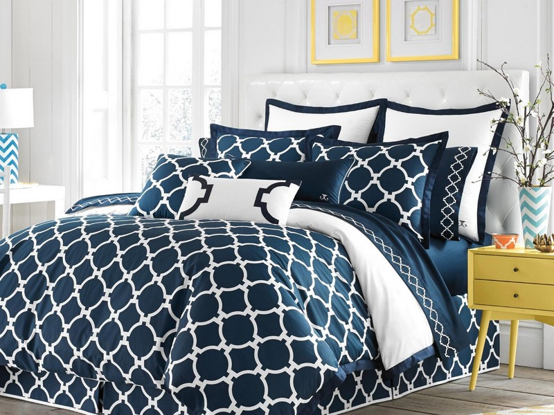 Navy Blue And White Duvet Cover