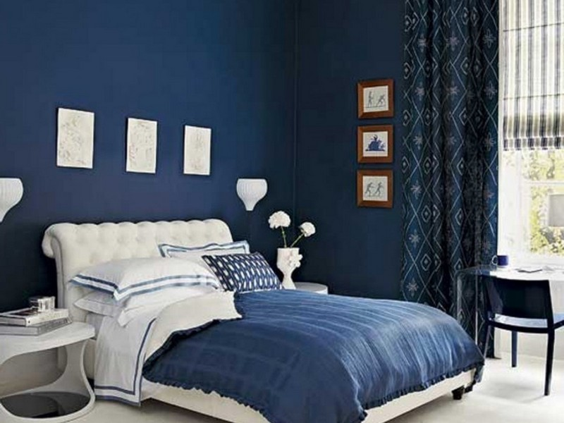 Navy Blue Bedside Lamps