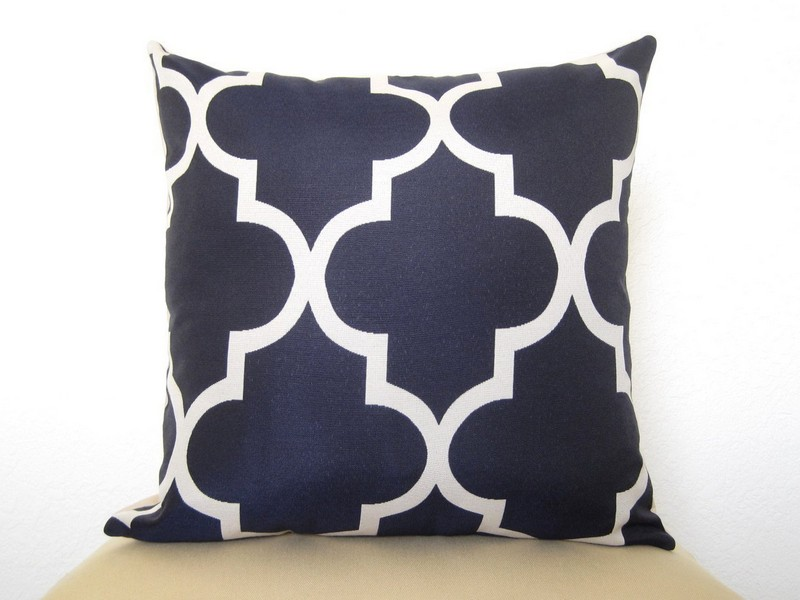 Navy Blue Decorative Pillows
