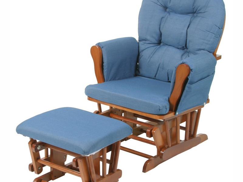 Navy Blue Glider And Ottoman
