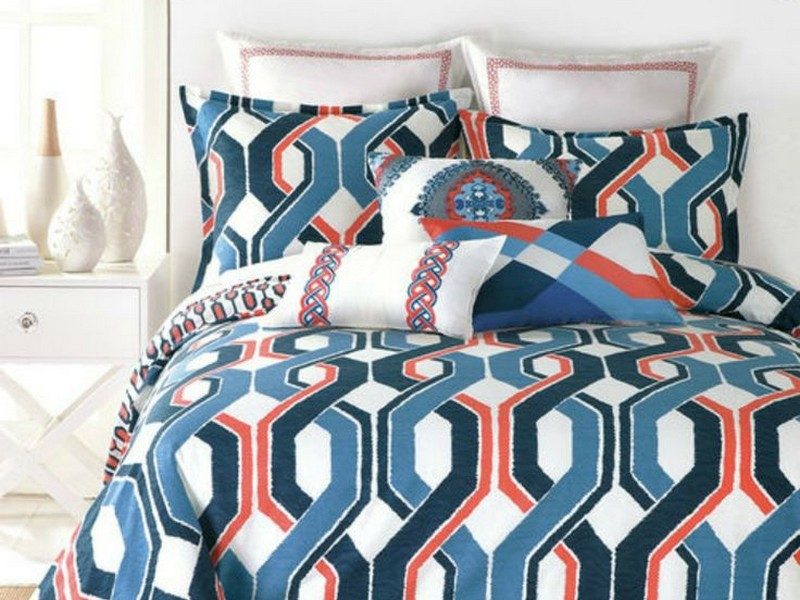 Navy Blue Ikat Bedding