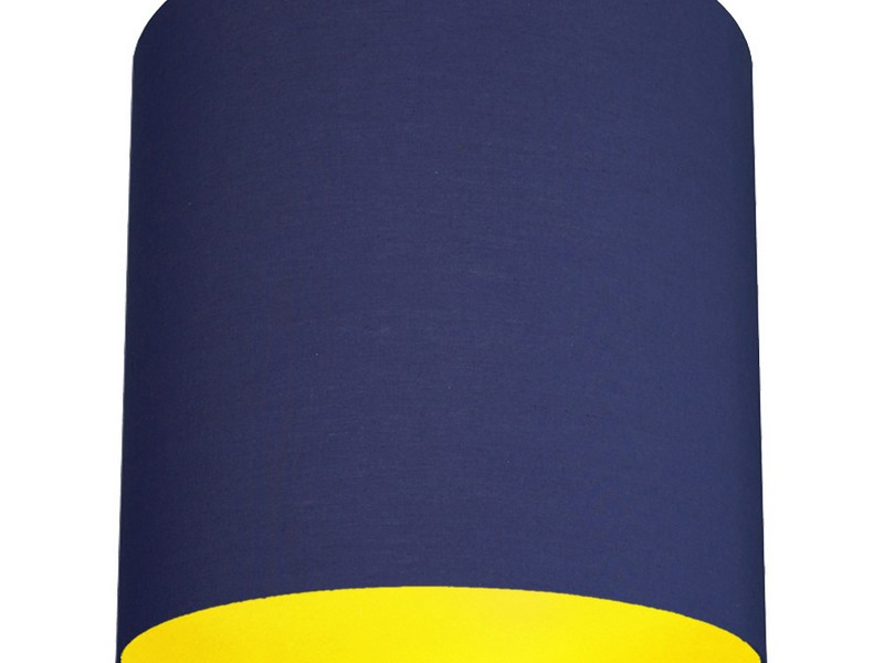 Navy Blue Lamp Shade Drum