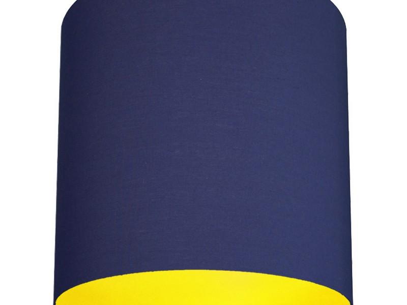 Navy Blue Lamp Shade Drum