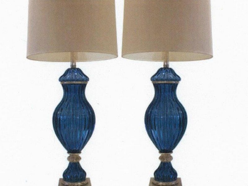 Navy Blue Lamps