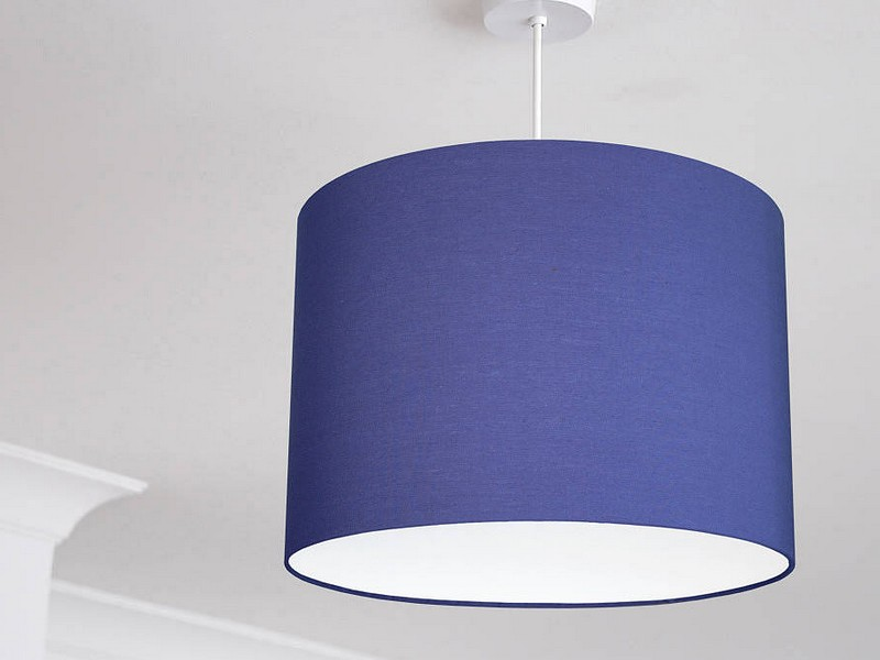 Navy Blue Lampshades