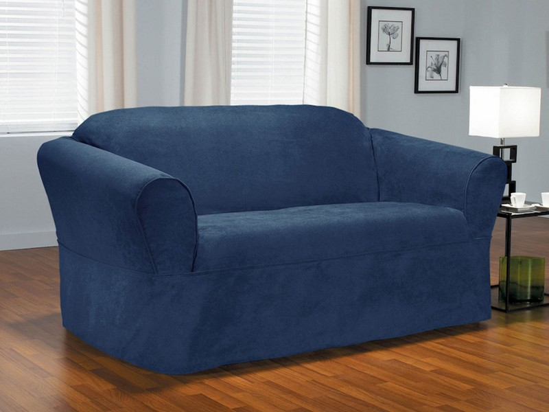 Navy Blue Loveseat Slipcovers