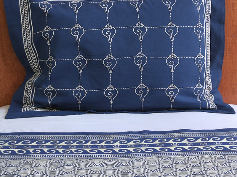 Navy Blue Pillow Shams Queen