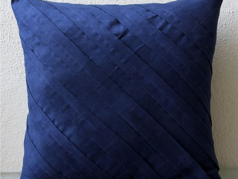 Navy Blue Pillow Shams