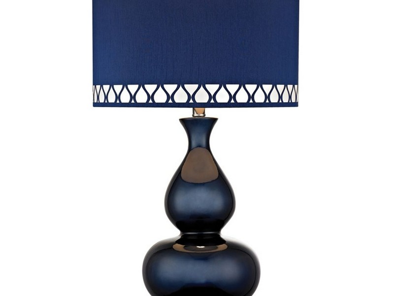 Navy Blue Table Lamp Shade