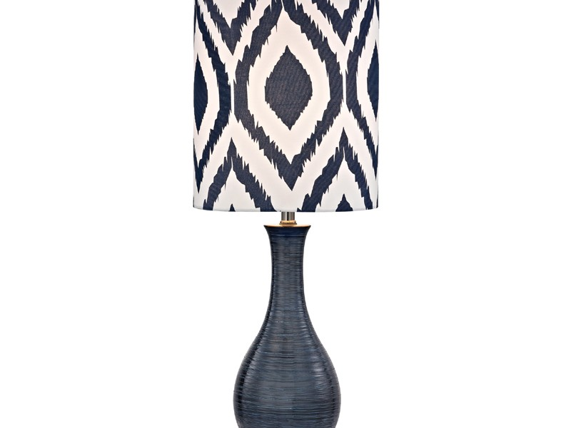 Navy Blue Table Lamp