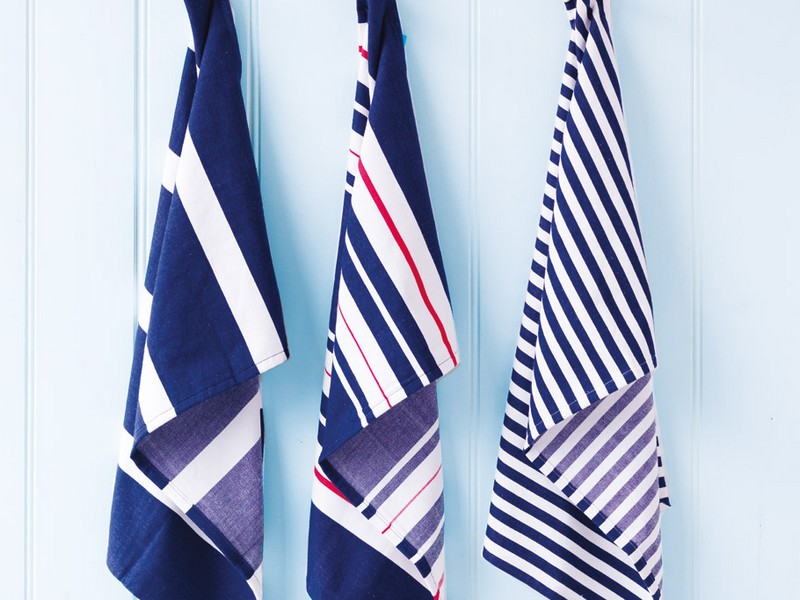 Navy Blue Tea Towels