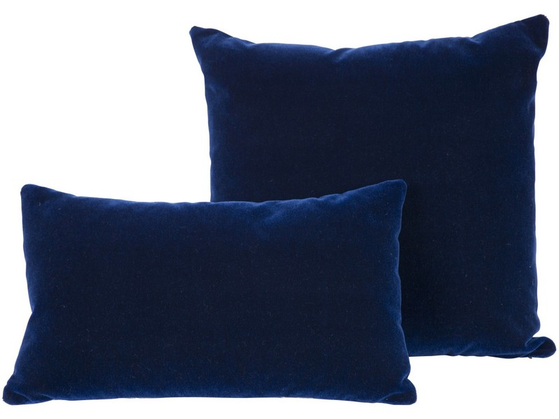 Navy Blue Velvet Pillows
