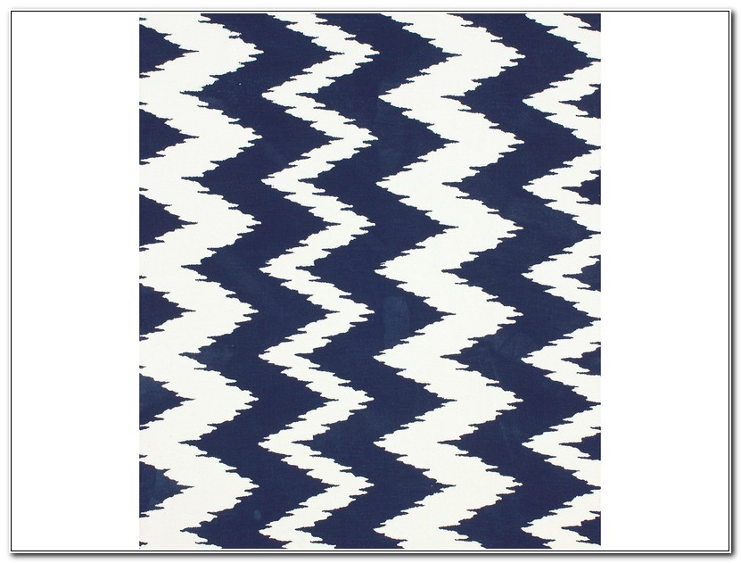 Navy Chevron Rug 5x8