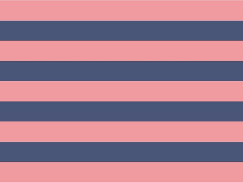 Navy Stripe Rug