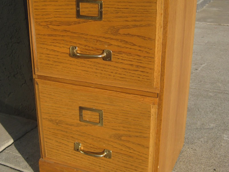 Oak File Cabinet 2 Drawer