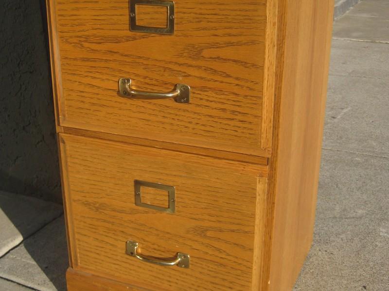 Oak File Cabinet 2 Drawer