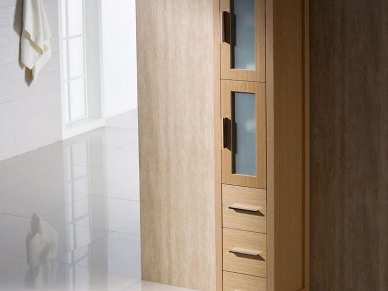 Oak Linen Cabinet For Bathrooms