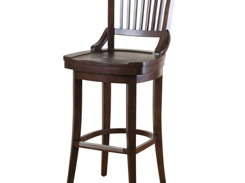 Oak Swivel Bar Stools With Arms
