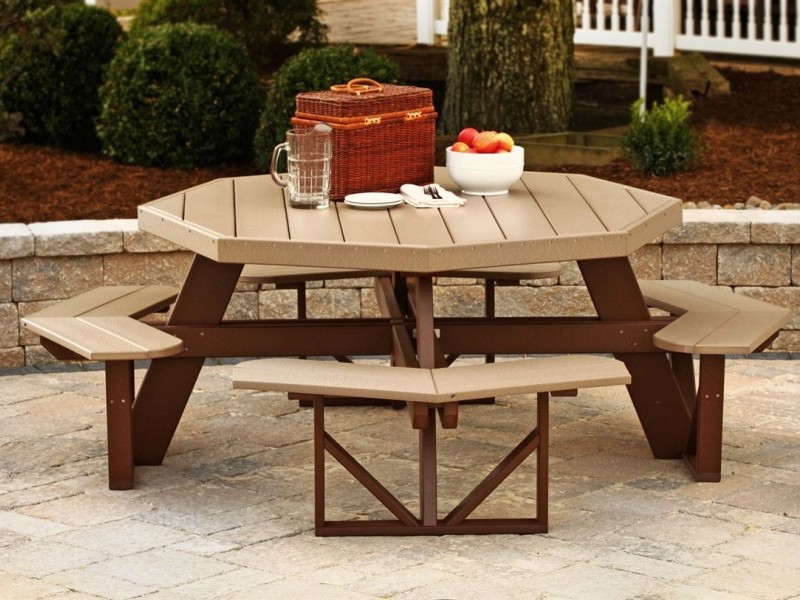 Octagon Patio Table Set