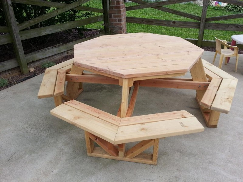 Octagon Patio Table