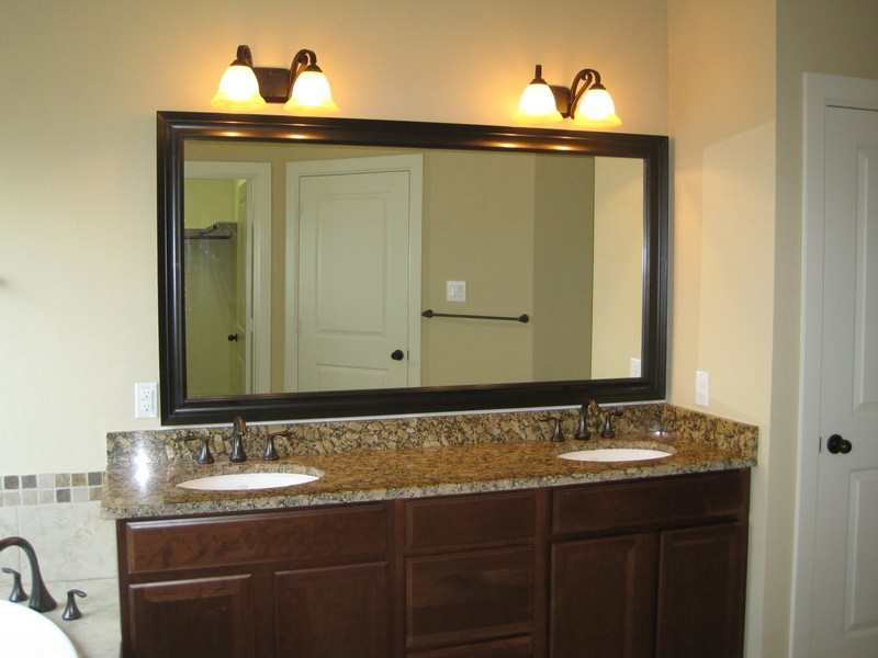 Oil Rubbed Bronze Framed Bathroom Mirror