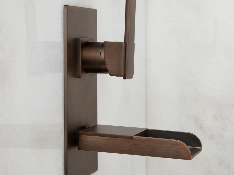 Oil Rubbed Bronze Wall Mount Bathroom Faucet