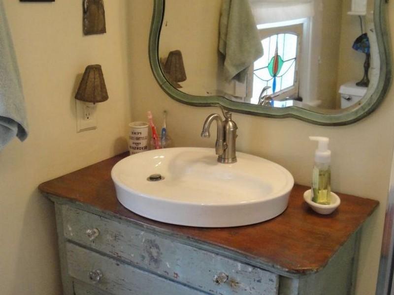 Old Dresser Bathroom Vanity