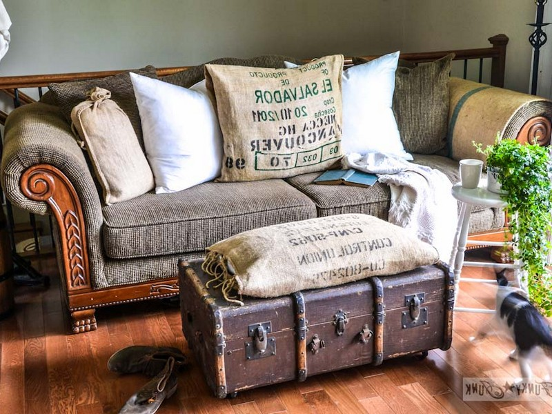 Old Trunk As Coffee Table