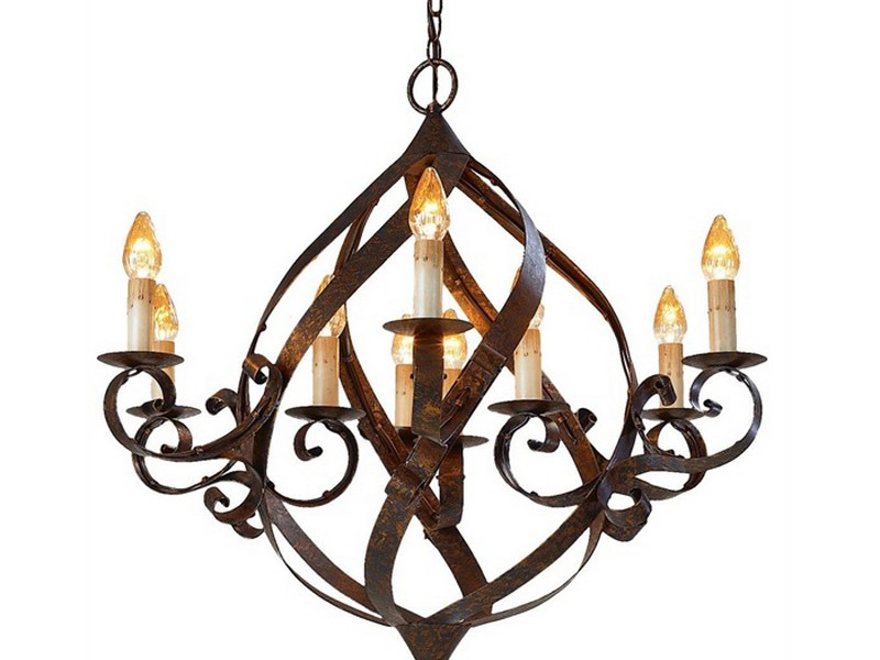 Old World Iron Chandeliers