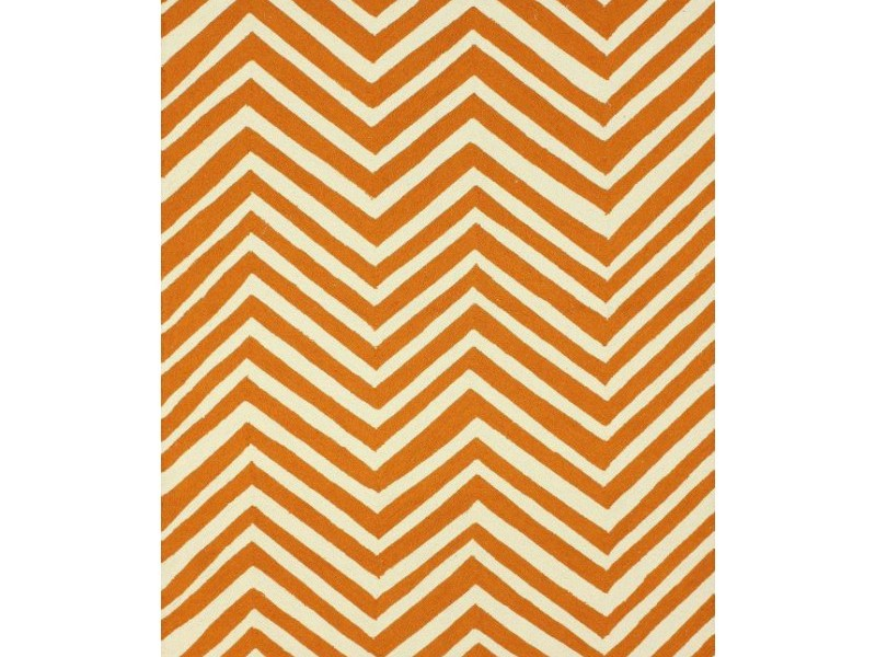 Orange Chevron Rug 5x8