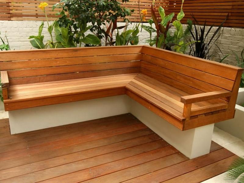 Outdoor Corner Bench Seating Plans