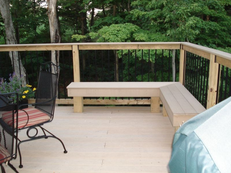 Outdoor Corner Bench Seating