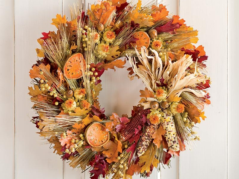 Outdoor Fall Wreaths