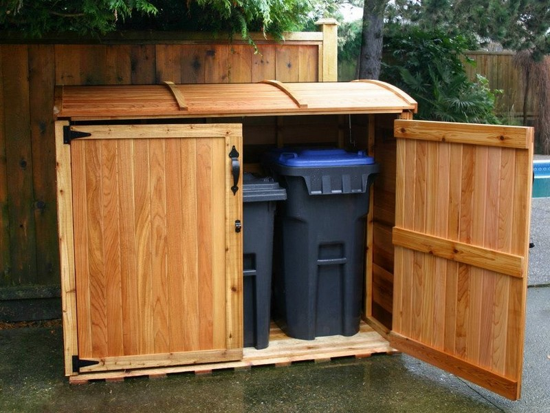 Outdoor Garbage Storage Bins