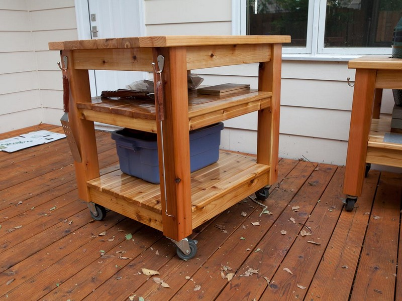 Outdoor Grill Prep Table
