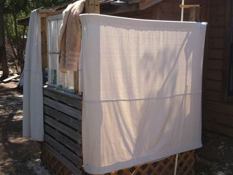 Outdoor Shower Curtain Rod