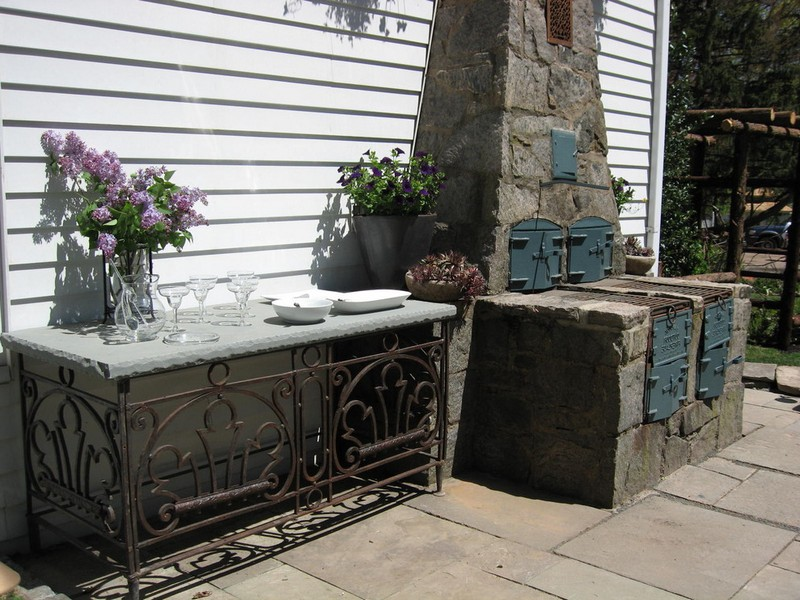 Outdoor Stone Console Tables