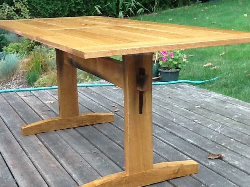 Outdoor Trestle Table Plans