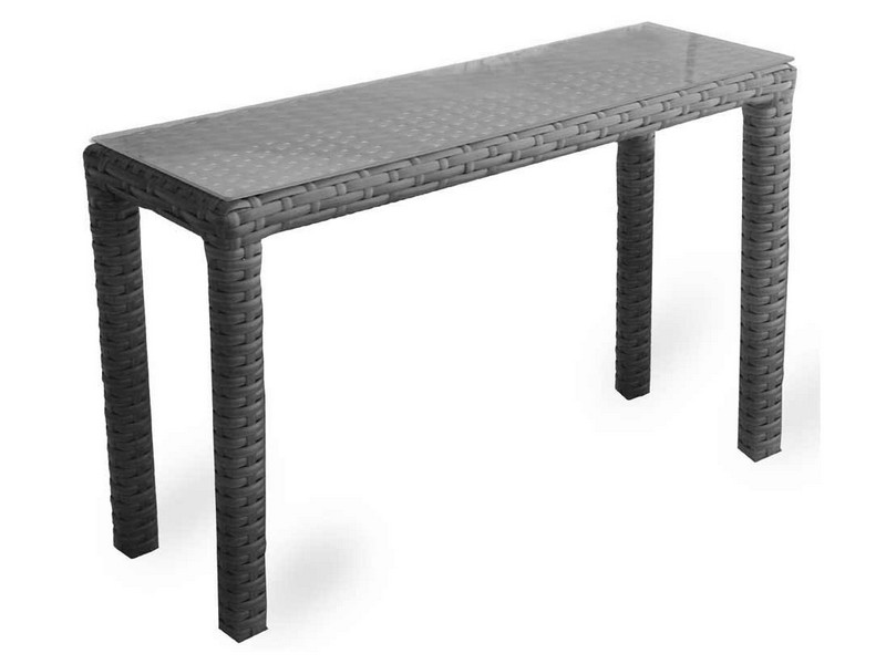 Outdoor Wicker Console Table