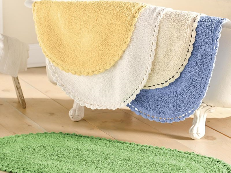 Oval Bath Rugs Cotton