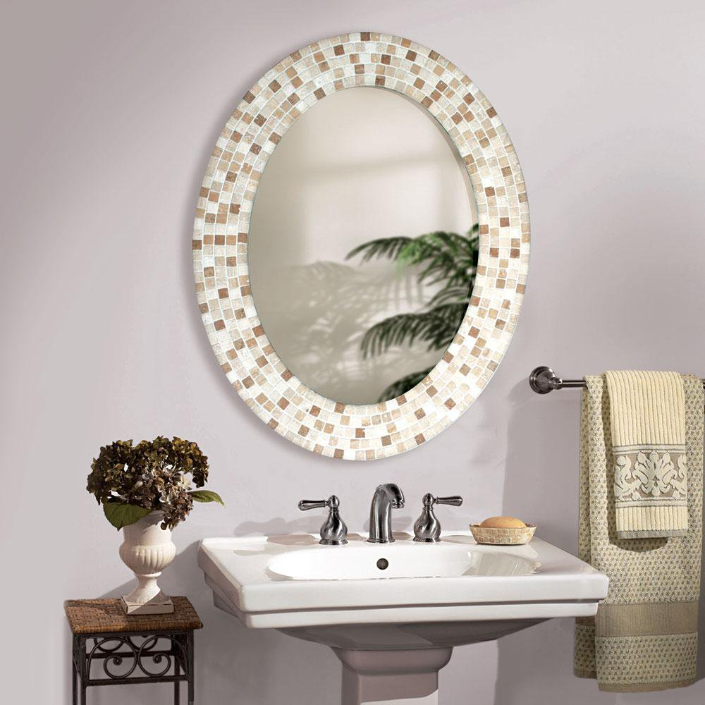 Oval Bathroom Mirror
