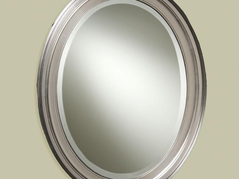 Oval Bathroom Mirrors Brushed Nickel